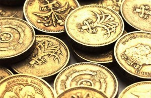 Spot forex - a heap of pound coins