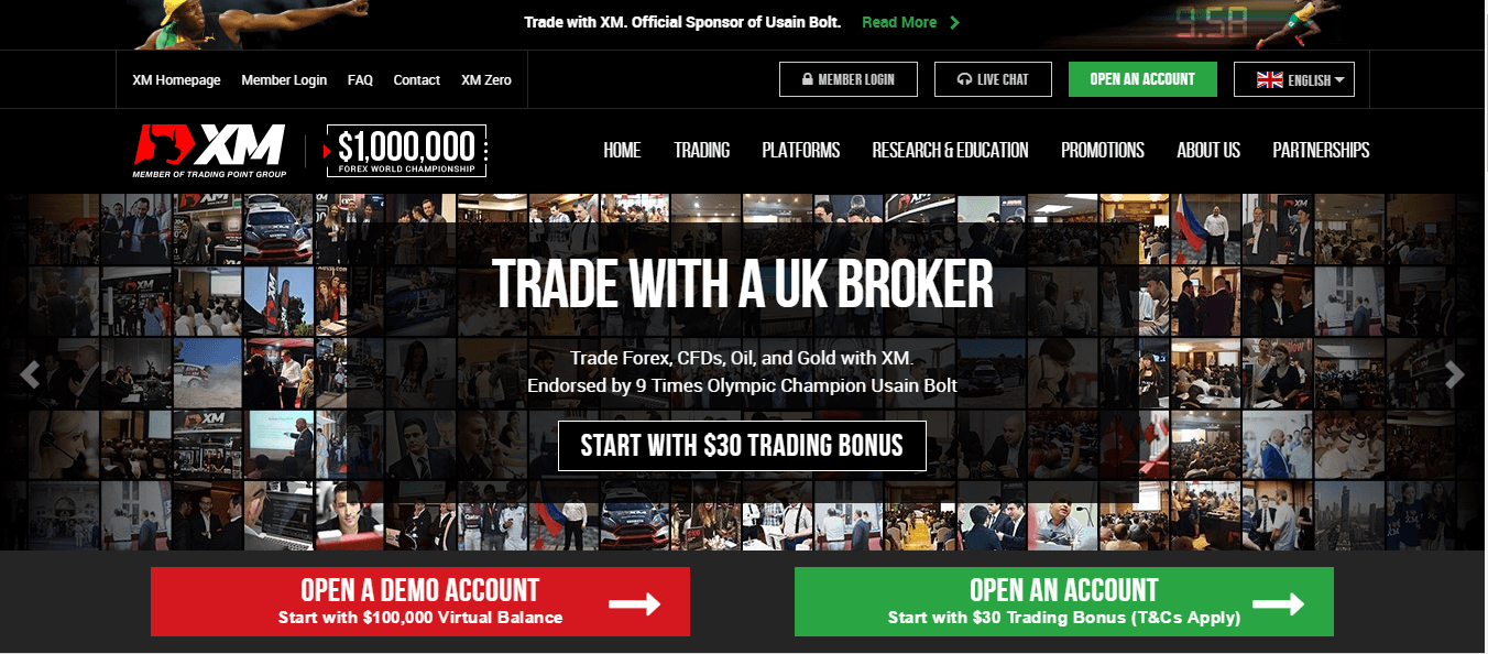 Binary options brokers no deposit bonus xm