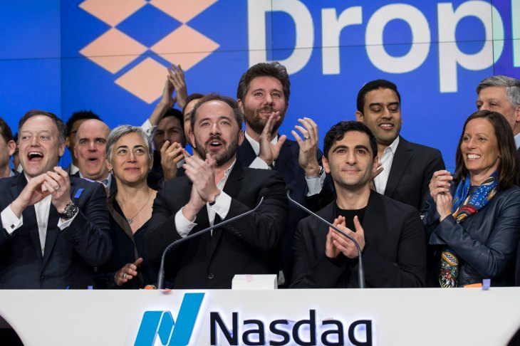 Dropbox Debuts On Nasdaq Exchange