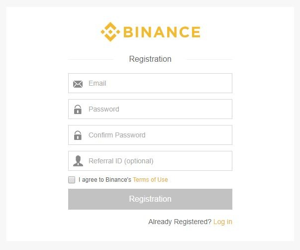 Account at Binance.com