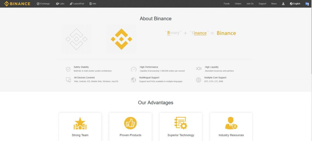 What is Binance Exchange?