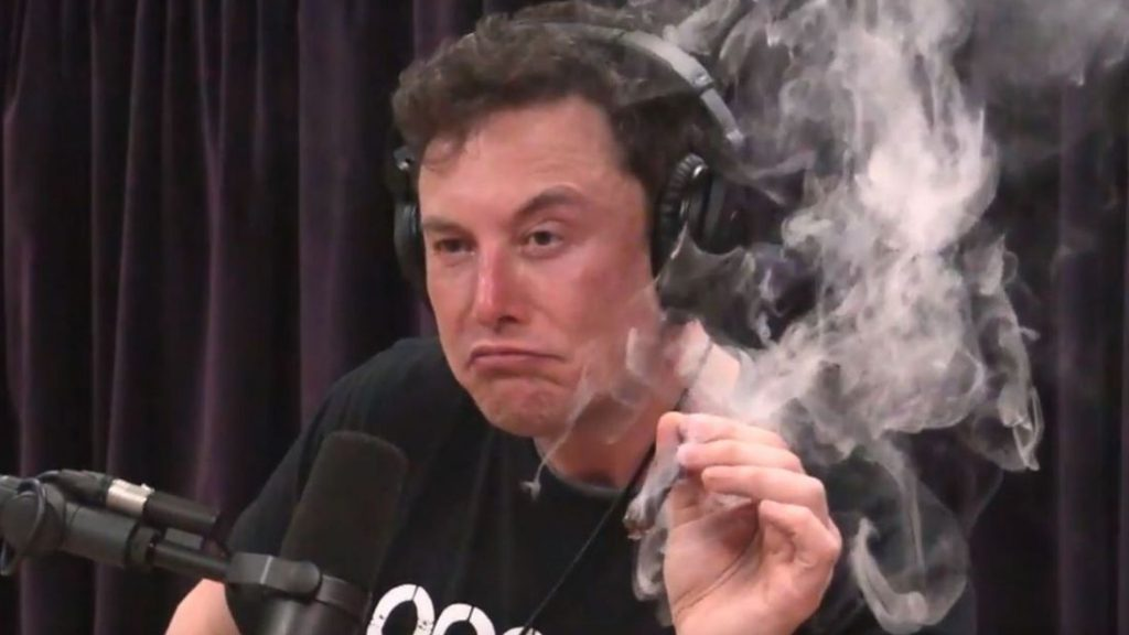 Tesla shares tumble after Elon Musk smokes weed on comedian live webcast