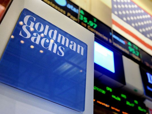 Apple and Goldman Sachs shares drop dragging down large indices