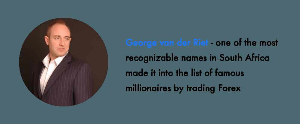George van der Riet top traders in south africa