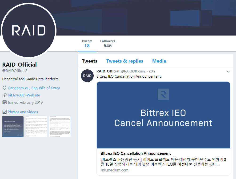 Is RAID a scam? Bittrex cancels IEO tokensale