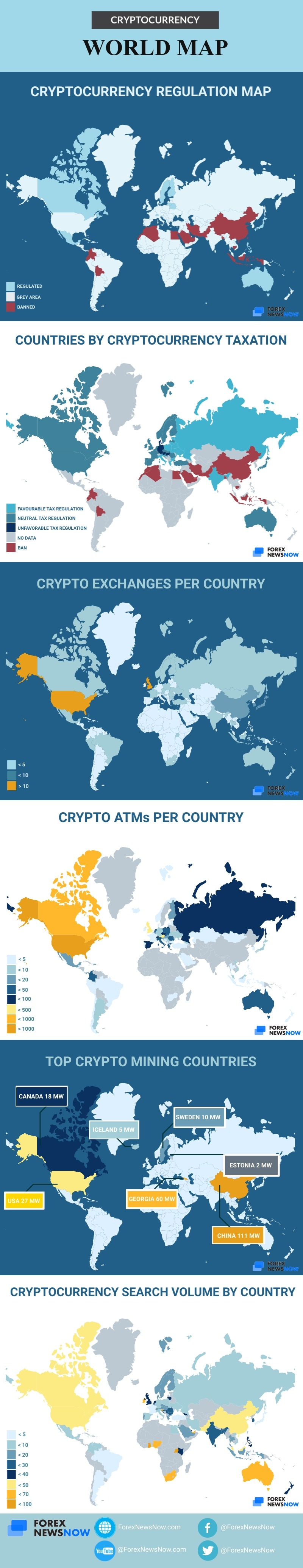 Cryptocurrency around the world