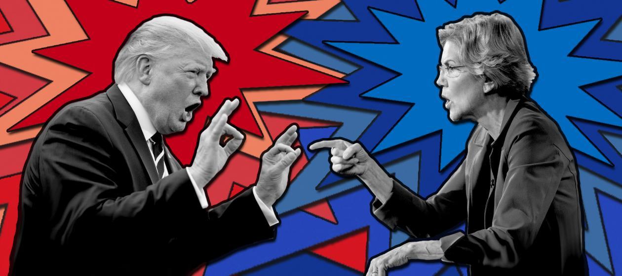 trump vs. warren
