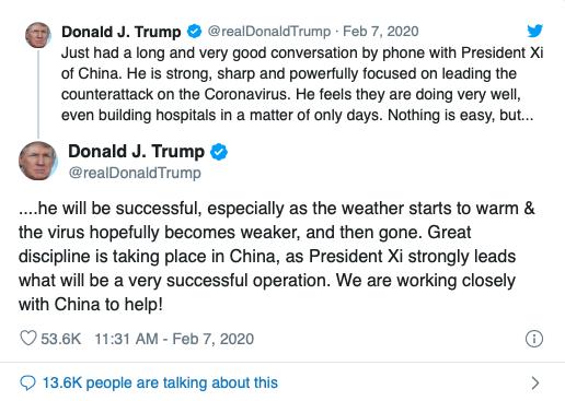 Trump on coronavirus