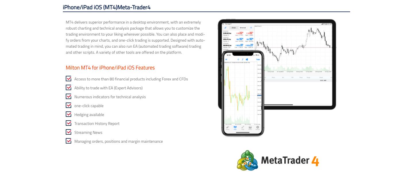 FX trading platforms of Milton Prime review